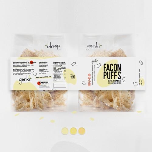 Snack label design