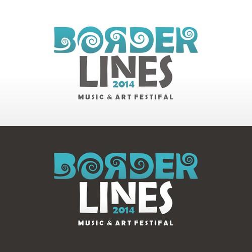 Logo concept for Borderlines Music & Art Festival
