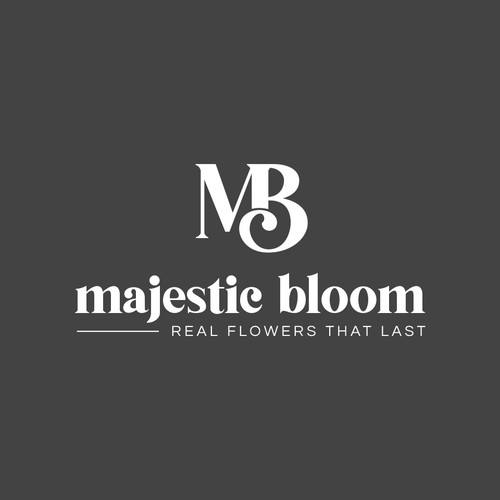 Creative logo for majestic bloom