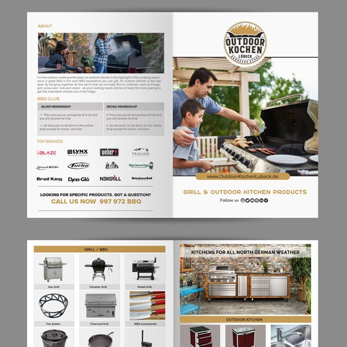 BI Fold Brochure for BBQ & Grill Business
