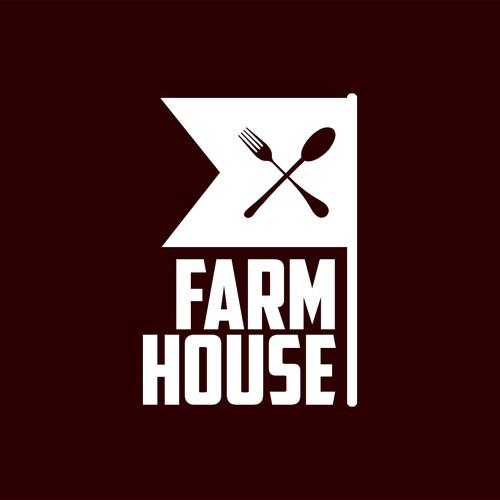 FARMHOUSE bold logo for coffee shop