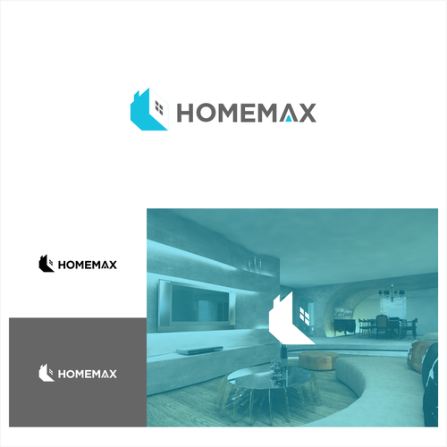 modern tech logo for online home buying company