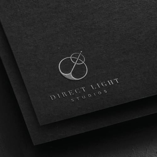 Modern Minimal Logo for a Film Production Company, Direct Light Studios