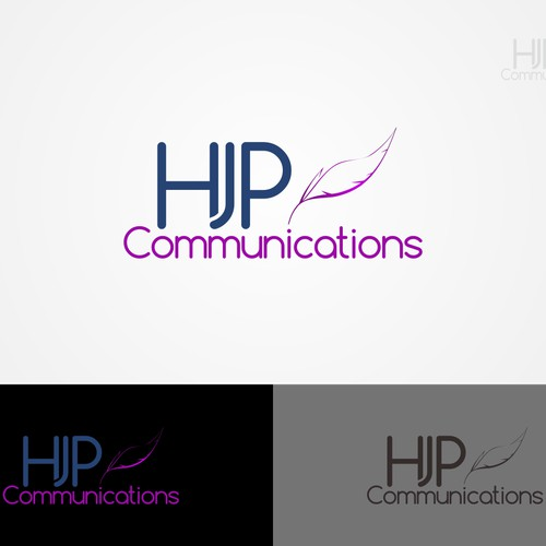 simple logo for HJP COmmunication