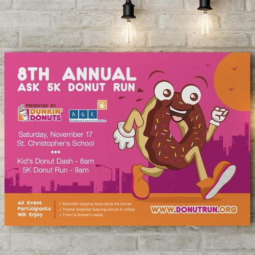 5K Donut Run Poster