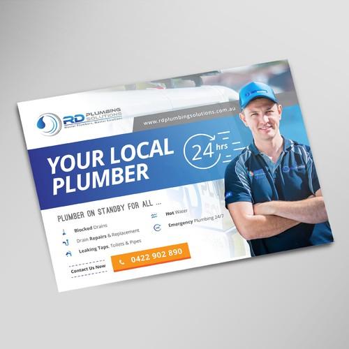 Plumber Postcard Design
