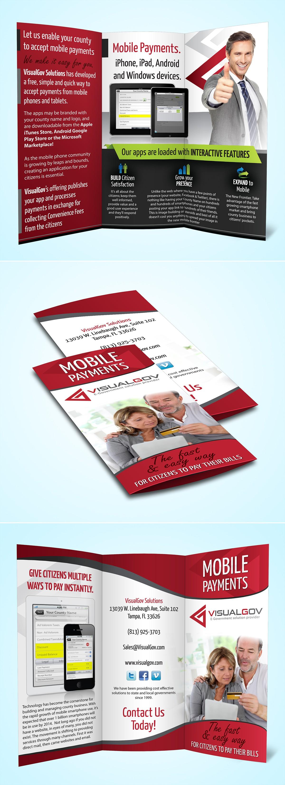 brochure design for VisualGov Solutions