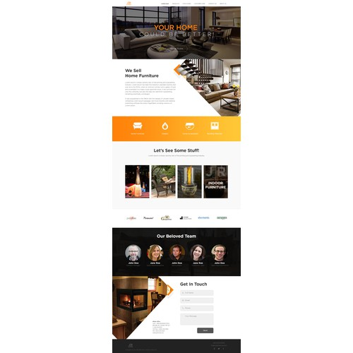 Modern Furniture Landing Page