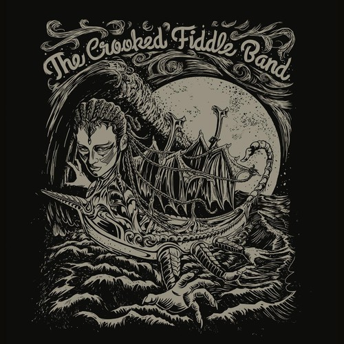 Fantastical t-shirt design for The Crooked Fiddle Band (guaranteed)