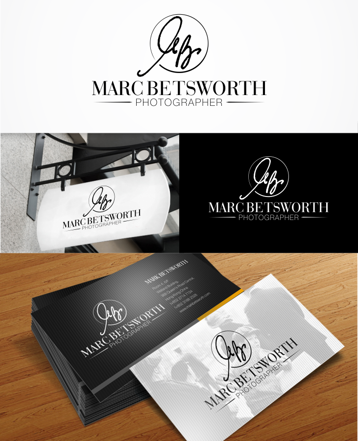 logo and business card for Marc Betsworth Photographer