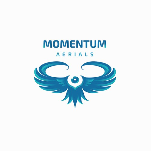 Sleek logo for a drone video production company