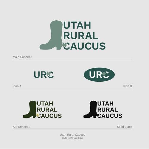 Logo:: Utah Rural Caucus (Blue/Blue)