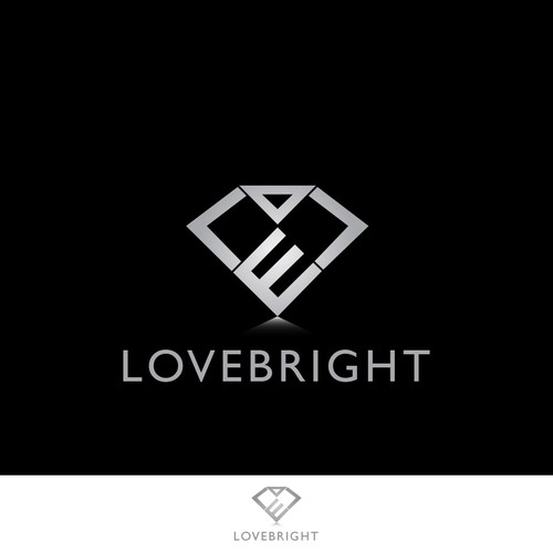 Diamond logo concept for Lovebright