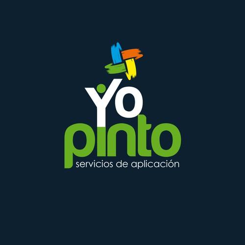 """Logo """"YoPinto"""" - Servicios de aplicacion de pinturas."""