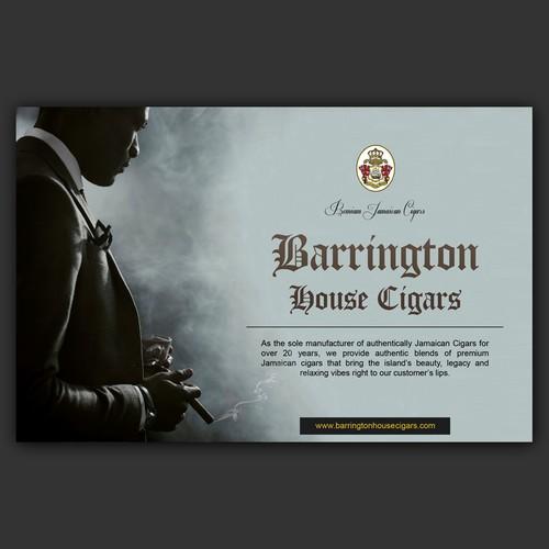 Newspaper ad for Barrington House cigars