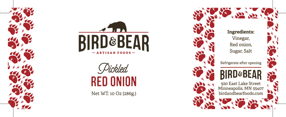 Product labels for Bird&Bear