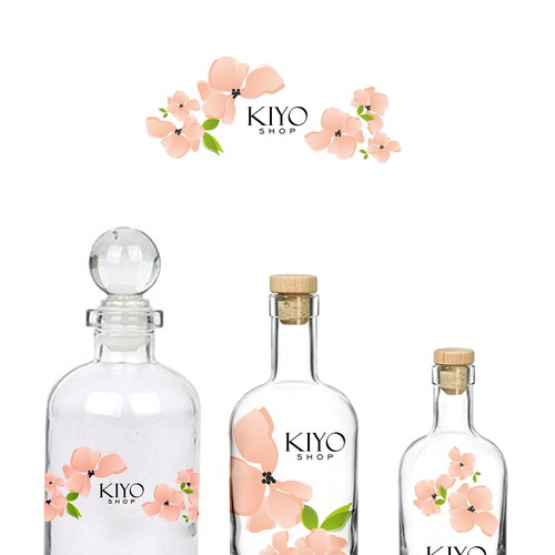 kiyo shop label design for beauty products