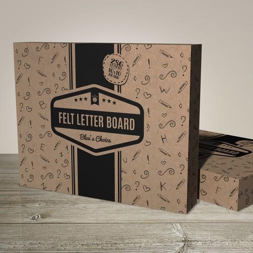 Felt Letter Board Package Design
