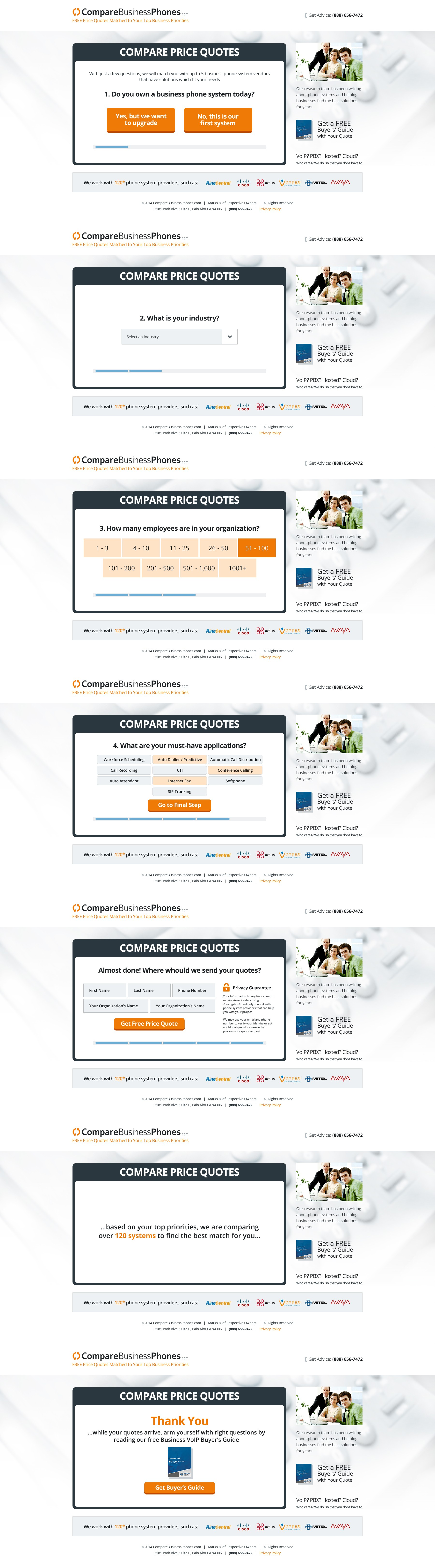Get-a-Quote Lead Generation Landing Page
