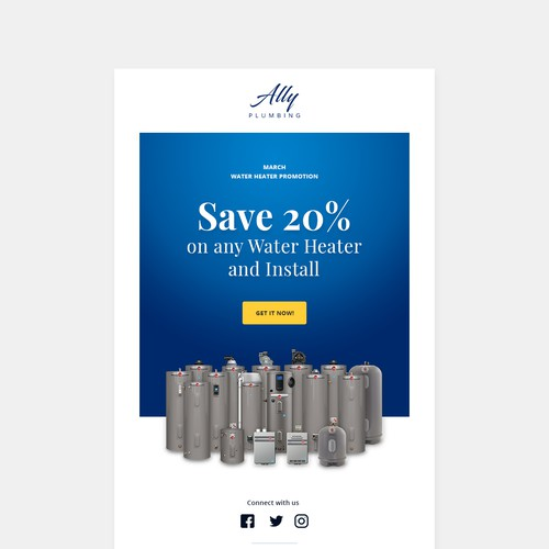 Emailer for Ally Plumbing