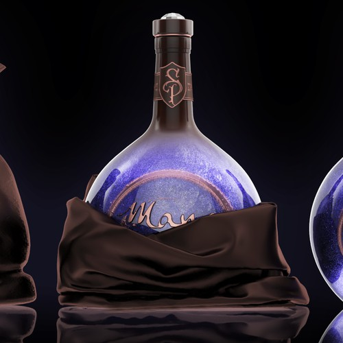Very interesting bottle with game inspired design