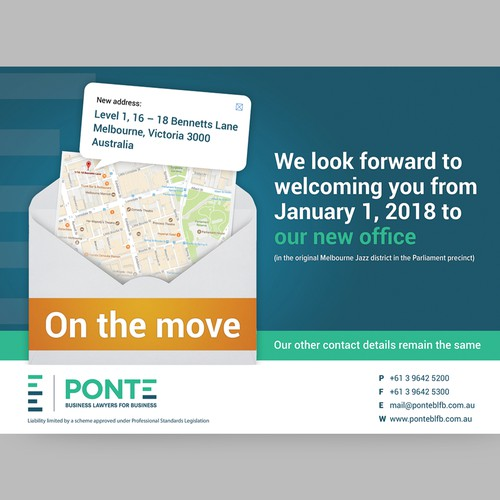 Design a creative flyer for PONTE