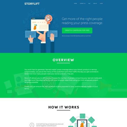 Vertical Scroll Style B2B Website
