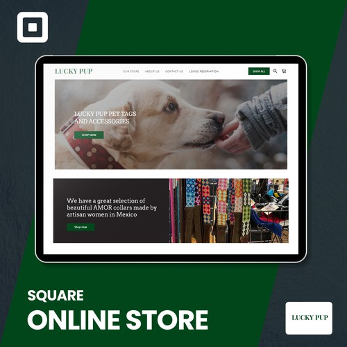 Lucky pup ok Square online site