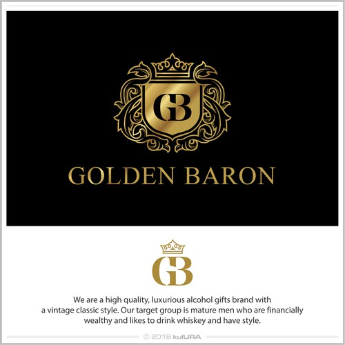 Logo for luxurious alcohol brand