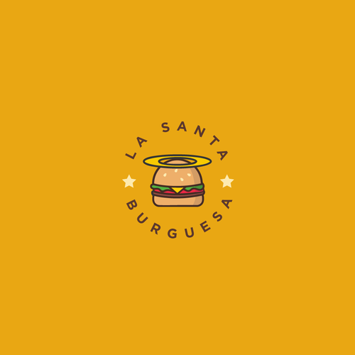 "Logo concept for ""The Holy Burger"""