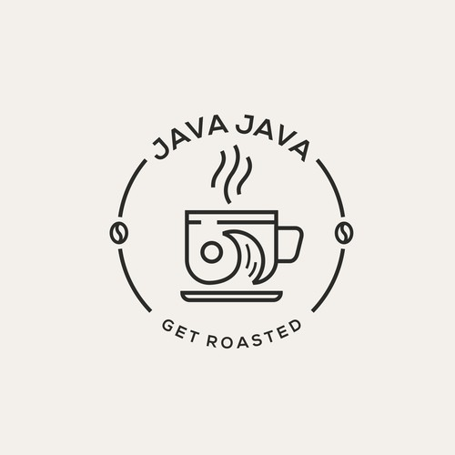 Hipster Logo for JavaJava Coffee