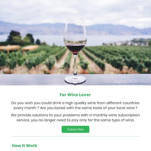 Wine Subscription Form