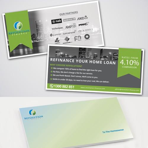 Flyer and Envelope concept for Revolution Finance