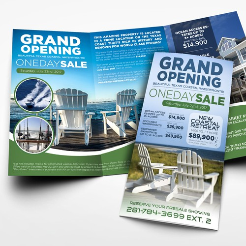 Grand Opening Brochure for a Real Estate company
