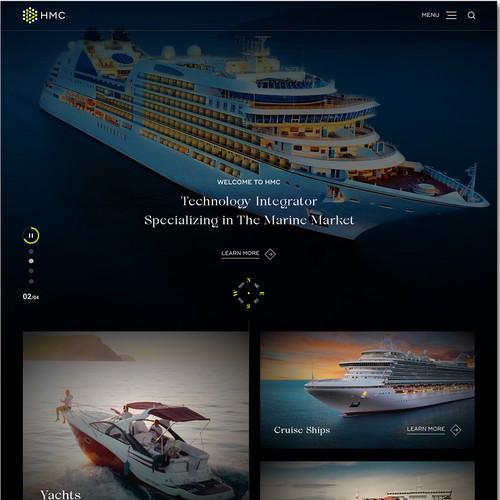 Web Design for HMC-Technology Integrator for Yacht