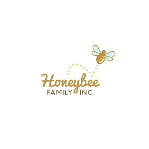 Honeybee Family Inc: geometric patterns, honeycombs, parent and baby bees