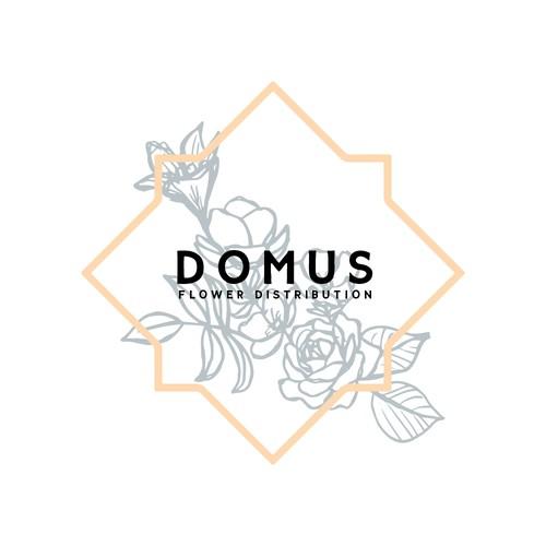 Logo Design Concept for Domus Flower Distribution