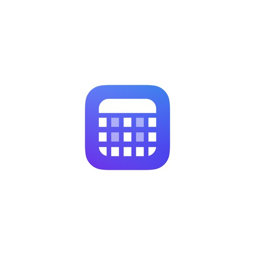 iOS app icon for a social calendar app.