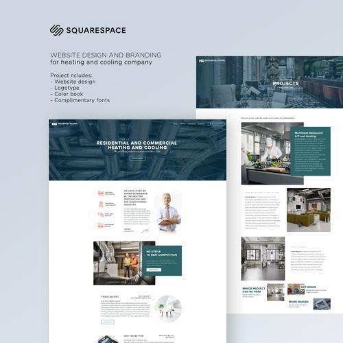 Squarespace Website And Logotype Design for HVAC company.