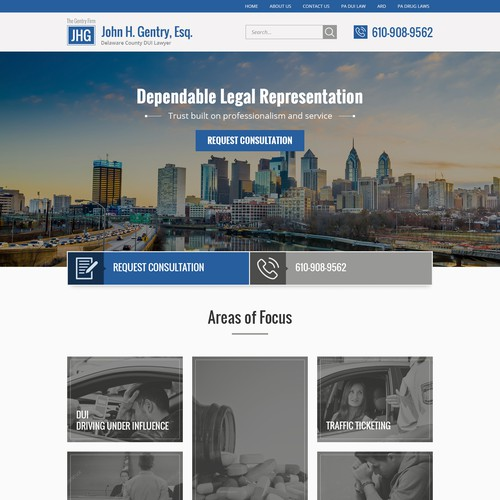 Website design for a Law Firm