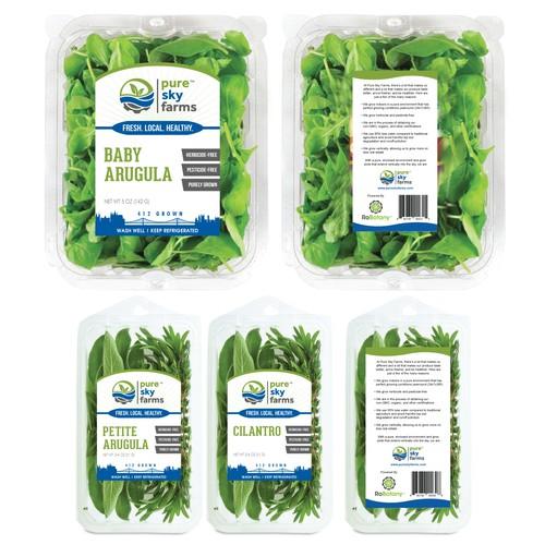 Vegetable packaging stiker