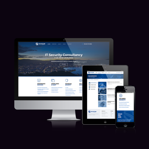 Responsive Website for IT Security