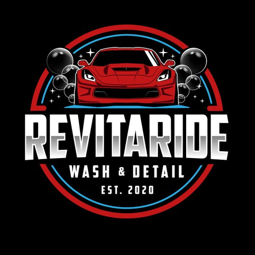 Logo for car wash and detail service