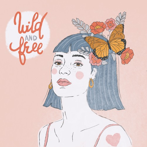 Wild and free illustration