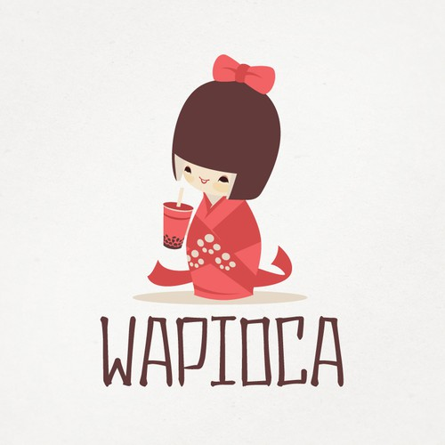 Wapioca San Francisco Bubble Tea Logo Design