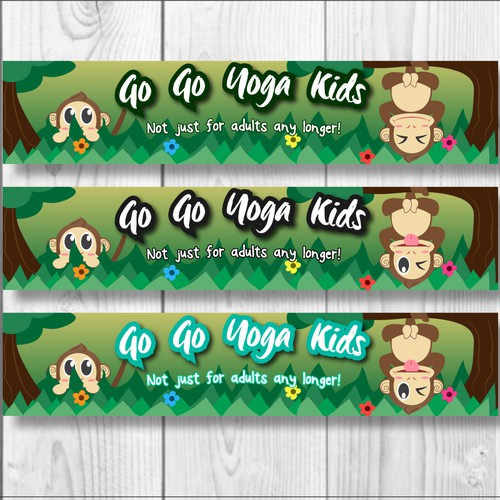 Banner for a web of yoga focusing on children.