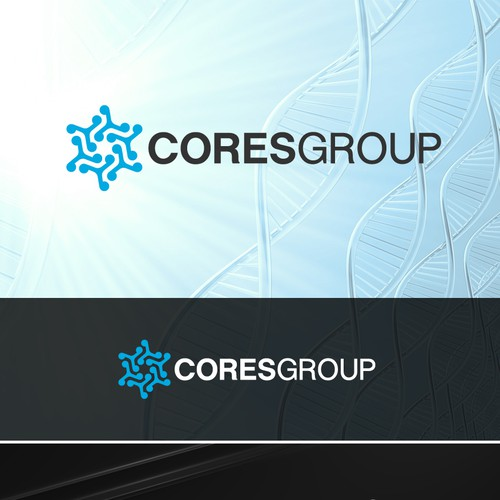 Design a logo for Coresgroup, an educational resource for clinical research professionals.