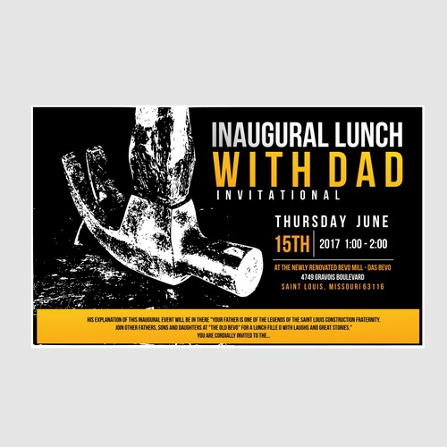INAUGURAL LUNCH WITH DAD