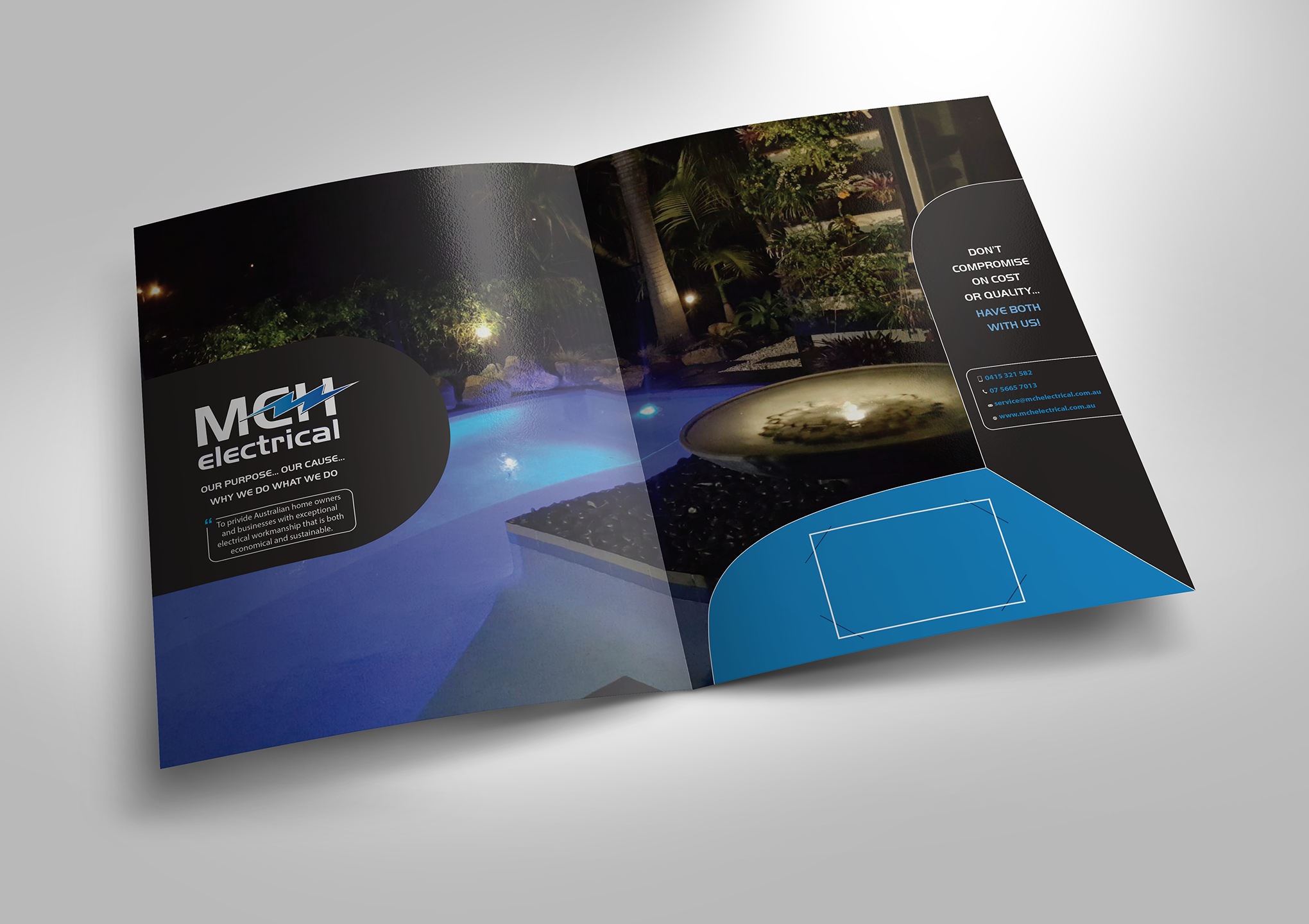 Electrical Firm MCH needs a great Company Brochure
