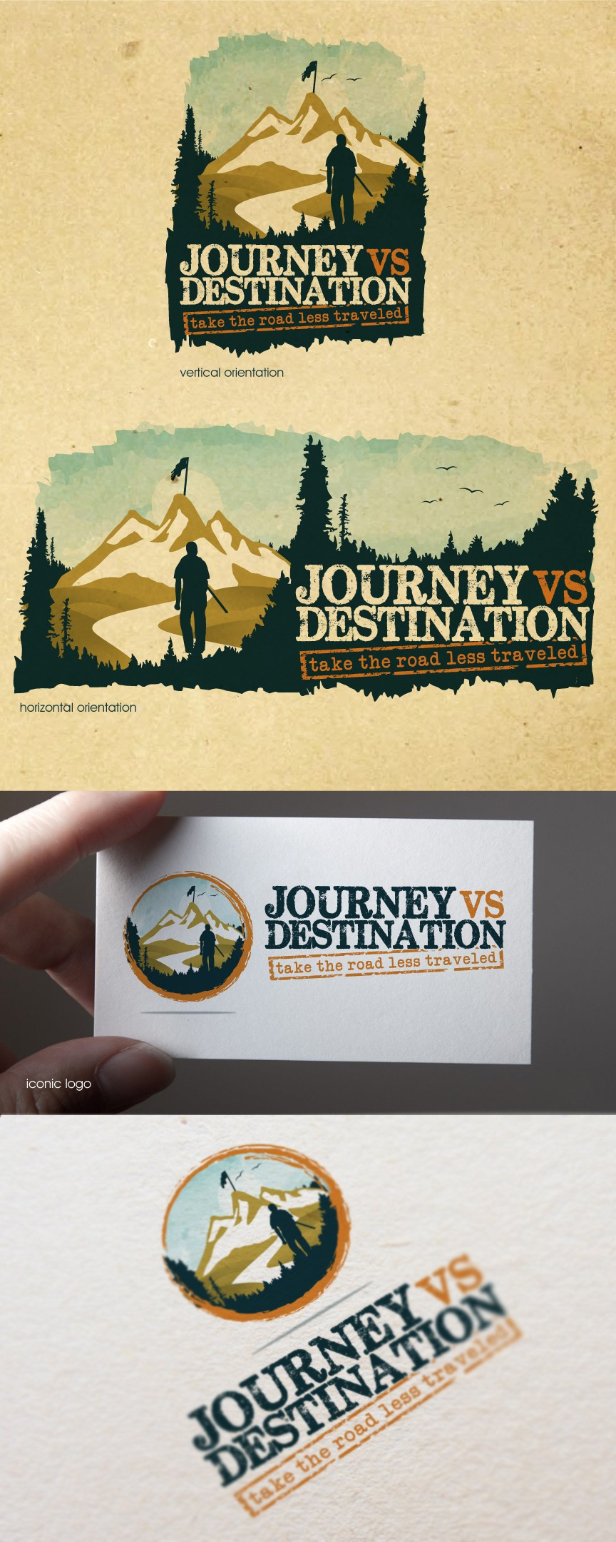 Make a difference! Create the next AWESOME logo for JourneyvsDestination.com!